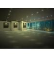 Empty illuminated apartment at night vector image