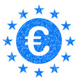 euro union stars grunge icon vector image