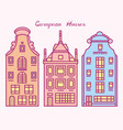 europe house or apartments cute architecture in vector image vector image