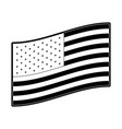 flag united states of america flat side design in vector image vector image