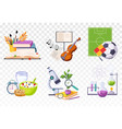 flat set icons presenting different vector image vector image