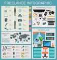 Freelance infographic template Set elements for vector image