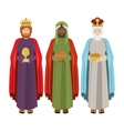 full body wise men with gifts vector image vector image