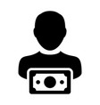funding icon male user person profile avatar sign vector image