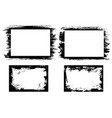 grunge frames with paint ink or dirt strokes vector image vector image