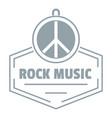 hippie rock music logo simple gray style vector image vector image
