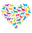 i love horses concept vector image vector image