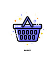 icon shopping basket for retail and consumerism vector image
