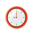 isolated round clock vector image vector image