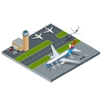 Isometric representing airport jet vector image