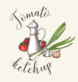 jar with tomato ketchup vector image vector image