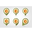 Melon mapping pins icons vector image vector image