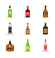 modern flat set alcoholon white background vector image