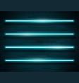 modern neon blue glowing lines banner on dark vector image vector image