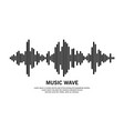 music wave symbol vector image