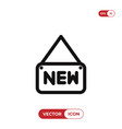 new tag icon vector image vector image
