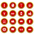 oktoberfest icon red circle set vector image vector image