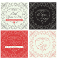 Ornate Holiday cards vector image vector image