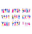 party flat set vector image