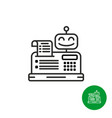 robotic cash register icon vector image vector image