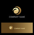 round arrow gold company logo vector image vector image