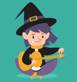Sad Witch Tuning Guitar vector image vector image