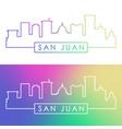 san juan skyline colorful linear style editable vector image vector image