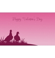 Scenery of valentine theme with dove vector image vector image