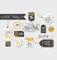 set of black friday sale tags advertising vector image
