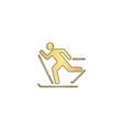Ski computer symbol
