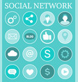 social network networking vector image vector image