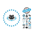 Strict Management Flat Icon with Bonus vector image vector image