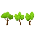 Summer tree set vector image vector image