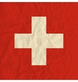 Switzerland paper flag vector image