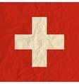 switzerland paper flag vector image