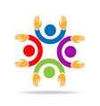 teamwork friends together icon vector image