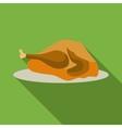 Thanksgiving turkey icon flat style vector image