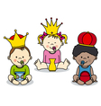three kings vector image vector image