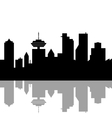 Vancouver Canada skyline vector image