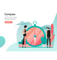 vision and compass concept modern flat design vector image vector image