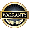 warranty gold icon vector image vector image