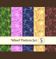 whorl pattern set vector image