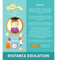 Distance Education and Learning Concept vector image
