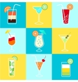 Cocktails Party Icons Set vector image