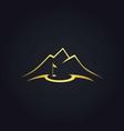 golf nature landmark gold logo vector image