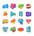 Trendy Colorful Geometric Label Collection vector image