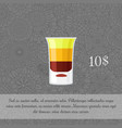 alcoholic cocktail b-52 card template vector image vector image