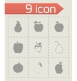 apple and pear icons set vector image vector image