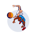 Basketball Players Rebound vector image vector image
