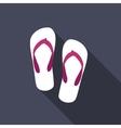 Beach Flip Flop Icon vector image